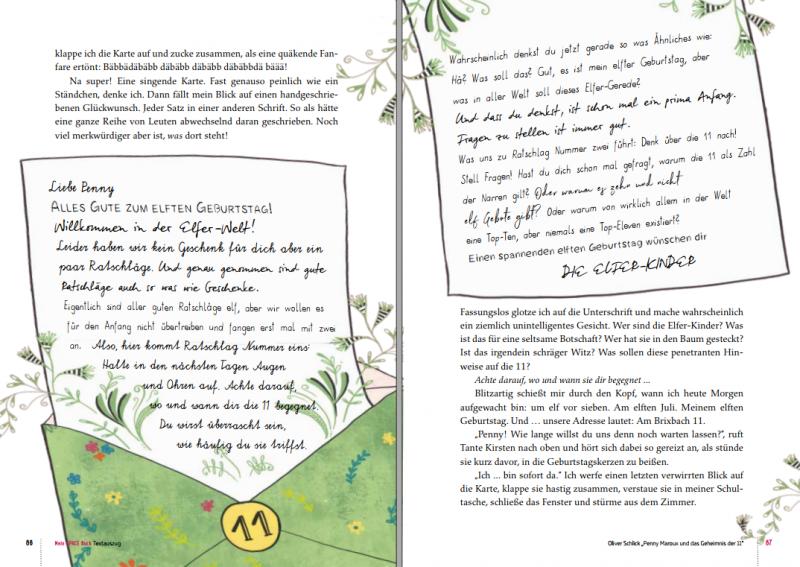 Buchauszug: Penny maroux und das Geheimnis der 11