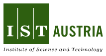"Logo von IST Austria - grünes Quadrat mit der Inschrift ""IST"" daneben ebenfalls in grün ""Austria"", darunter in nkleiner Schrift ""Inststitute of Science and Technology"""